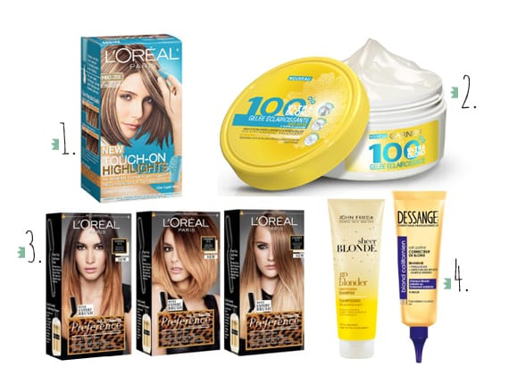 coloration 1 touch on highlights effet mch loral 2 gele claircissante garnier 3 prfrence les ombrs tie and dye loral - Coloration Groupe 2